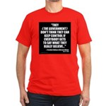 Government Control Men's Fitted T-Shirt (dark)