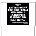 Government Control Yard Sign