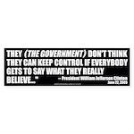 Government Control (Bumper Sticker 10 pk)