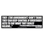 Government Control (Bumper Sticker)
