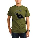 I <3 Turbo Snail - Organic Men's T-Shirt (dark)