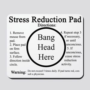 funny boss stress reduction mousepad