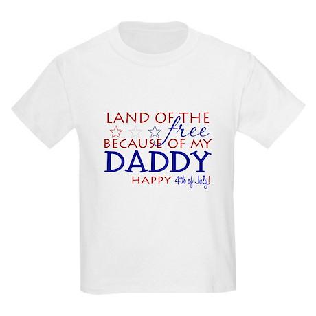 Land of the free ... daddy Kids Light T-Shirt