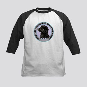 portuguese water dog addict Kids Baseball Jersey