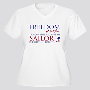 Freedom Isn't Free Women's Plus Size V-Neck T-Shir