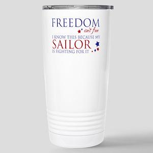 Freedom Isn't Free Stainless Steel Travel Mug