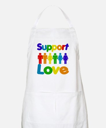 Support Love BBQ Apron