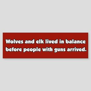 Wolves and Elk Bumper Sticker