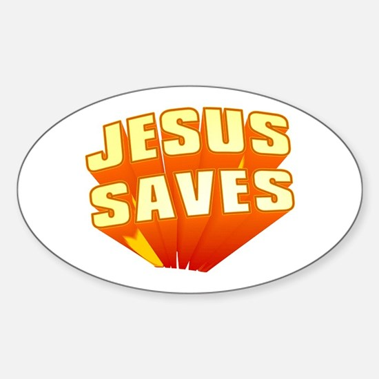 Jesus Oval Decal