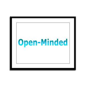 Open-Minded (Blue) Framed Panel Print