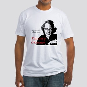 Flannery O'Connor Good Man Fitted T-Shirt
