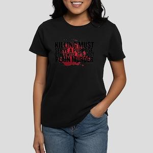 Just Plain Murder Women's Dark T-Shirt