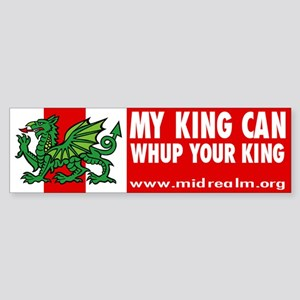 "Midrealm Vinyl ""whup king"" Bumper Sticker"