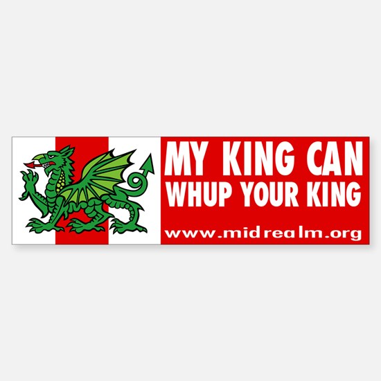 "Midrealm Vinyl ""whup king"" Bumper Bumper Bumper Sticker"