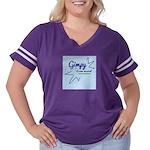 Handwritten Women's Plus Size Football T-Shirt