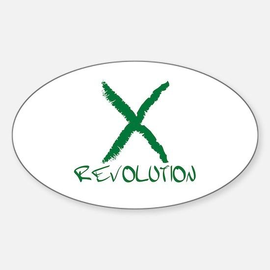 Iran Revolution Oval Decal