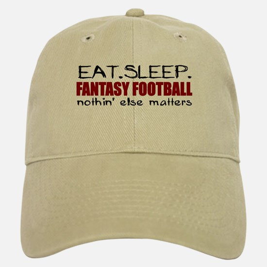 Eat Sleep Fantasy Football Baseball Baseball Cap