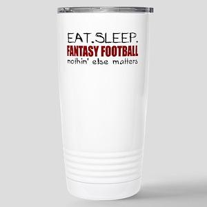 Eat Sleep Fantasy Football Stainless Steel Travel
