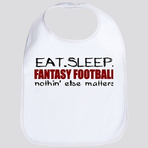 Eat Sleep Fantasy Football Bib