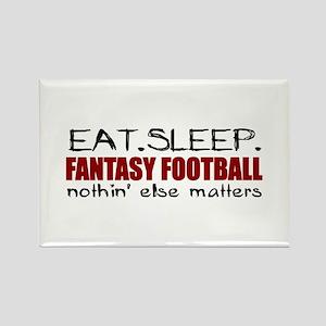 Eat Sleep Fantasy Football Rectangle Magnet