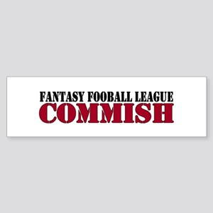 Fantasy Football Commish Bumper Sticker