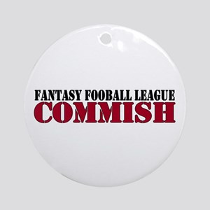 Fantasy Football Commish Ornament (Round)