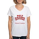 Bay Harbor Butcher Miami FL Women's V-Neck T-Shirt
