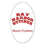 Bay Harbor Butcher Miami FL Oval Sticker