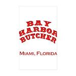 Bay Harbor Butcher Miami FL Rectangle Sticker 50