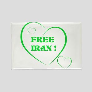 FREE IRAN Rectangle Magnet