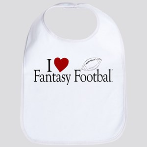 I Love Fantasy Football Bib