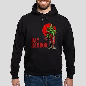 Bay Harbor with Palm Tree Hoodie (dark)
