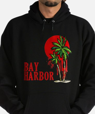 Bay Harbor with Palm Tree Hoodie (dark)