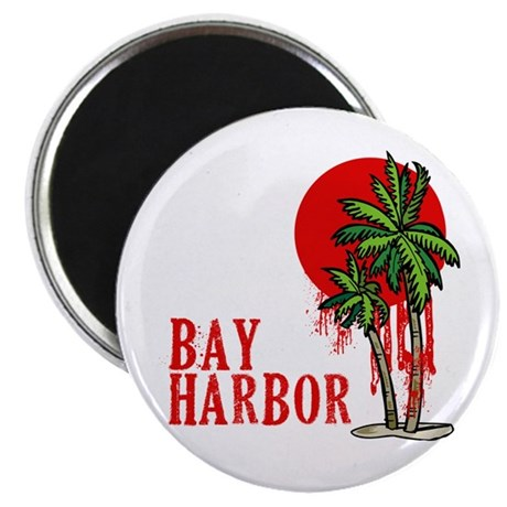 Bay Harbor with Palm Tree Magnet