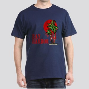 Bay Harbor with Palm Tree Dark T-Shirt