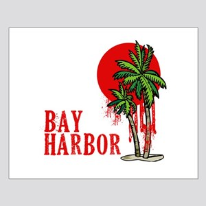 Bay Harbor with Palm Tree Small Poster
