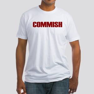 Commish (Red) Fitted T-Shirt