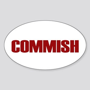 Commish (Red) Oval Sticker