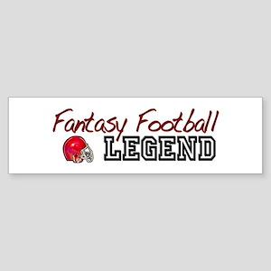 Fantasy Football Legend Bumper Sticker