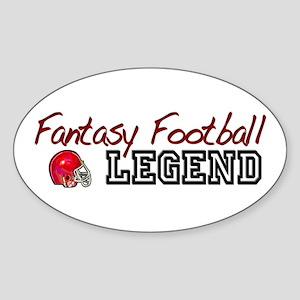 Fantasy Football Legend Oval Sticker