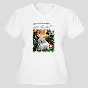 Bichon Frise Art Women's Plus Size V-Neck T-Shirt