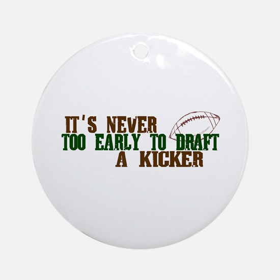 Fantasy Football Draft Kicker Ornament (Round)