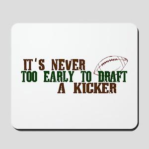 Fantasy Football Draft Kicker Mousepad