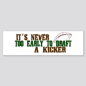 Fantasy Football Draft Kicker Bumper Sticker
