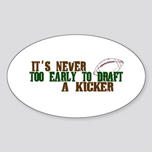 Fantasy Football Draft Kicker Oval Sticker