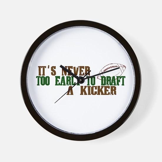 Fantasy Football Draft Kicker Wall Clock