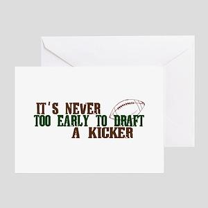 Fantasy Football Draft Kicker Greeting Card