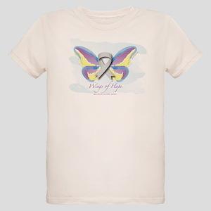 Brain Cancer Wings of Hope Organic Kids T-Shirt
