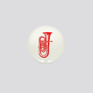 Red Tuba Mini Button