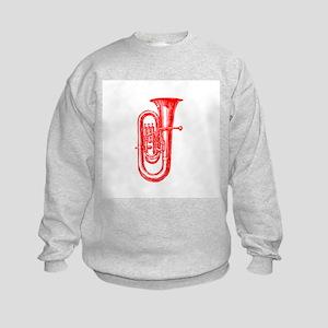 Red Tuba Kids Sweatshirt